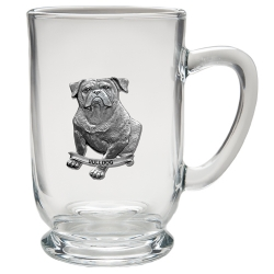 Bulldog Clear Coffee Cup