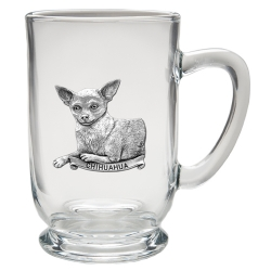 Chihuahua Clear Coffee Cup