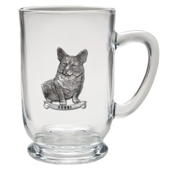 Corgi Clear Coffee Cup