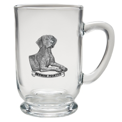 German Pointer Clear Coffee Cup