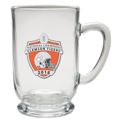2016 BCS National Champions Clemson Tigers Clear Coffee Cup - Enameled