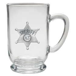 Sheriff Clear Coffee Cup