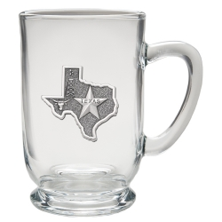 Texas Clear Coffee Cup