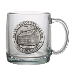 "Marine Corps ""Historic"" Clear Coffee Cup"