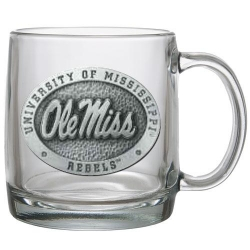 University of Mississippi Clear Coffee Cup