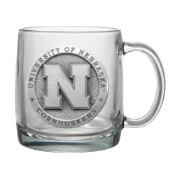 University of Nebraska Clear Coffee Cup