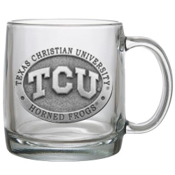 Texas Christian University Clear Coffee Cup
