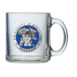 "University of Kentucky ""Wildcats"" Clear Coffee Cup - Enameled"