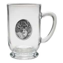 Mule Deer Clear Coffee Cup