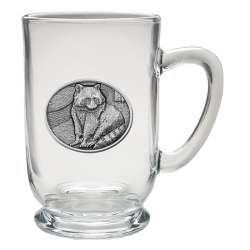 Racoon Clear Coffee Cup