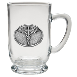 Caduceus Clear Coffee Cup