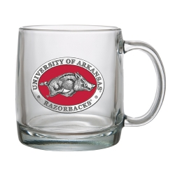 University of Arkansas Clear Coffee Cup - Enameled