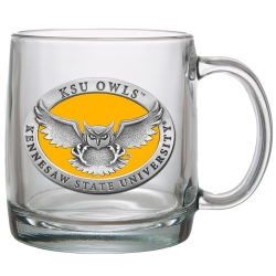 Kennesaw State University Clear Coffee Cup - Enameled