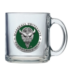Marshall University Clear Coffee Cup - Enameled