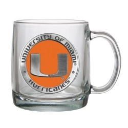 University of Miami Clear Coffee Cup - Enameled