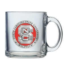 NC State University Clear Coffee Cup - Enameled
