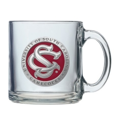 "University of South Carolina ""SC"" Clear Coffee Cup - Enameled"