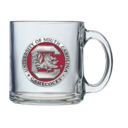 "University of South Carolina ""Gamecocks"" Clear Coffee Cup - Enameled"