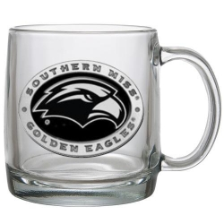 University of Southern Mississippi Clear Coffee Cup - Enameled