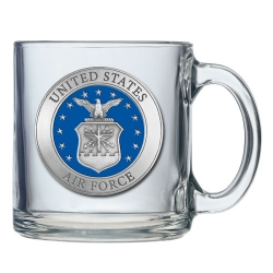 Air Force Clear Coffee Cup - Enameled