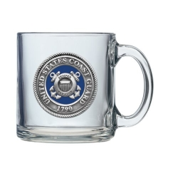 Coast Guard Clear Coffee Cup - Enameled