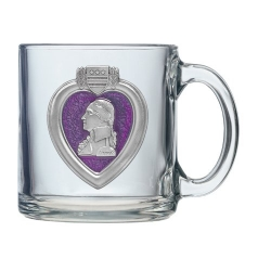 POW MIA Clear Coffee Cup - Enameled
