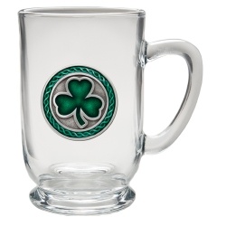 Clover Clear Coffee Cup - Enameled