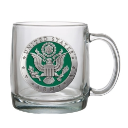 Army Clear Coffee Cup - Enameled