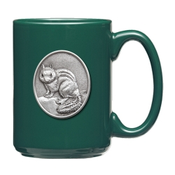 Chipmunk Green Coffee Cup