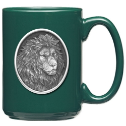 Lion Green Coffee Cup