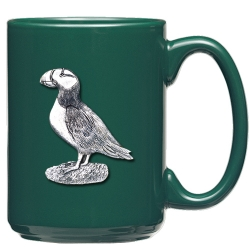 Puffin Green Coffee Cup