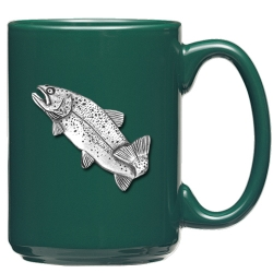 Trout Green Coffee Cup
