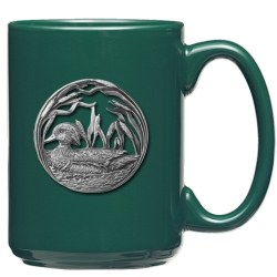 Wood Duck Green Coffee Cup