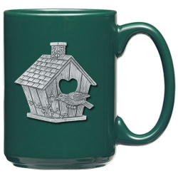 Birdhouse Green Coffee Cup