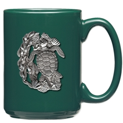 Sea Turtle Green Coffee Cup