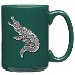 Alligator Green Coffee Cup