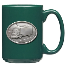 Truck Green Coffee Cup