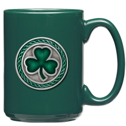 Clover Green Coffee Cup - Enameled