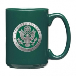 Army Green Coffee Cup - Enameled