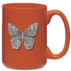 Butterfly Orange Coffee Cup