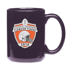 2016 BCS National Champions Clemson Tigers Purple Coffee Cup - Enameled