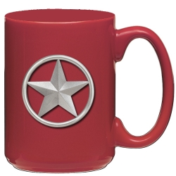 Lone Star Red Coffee Cup