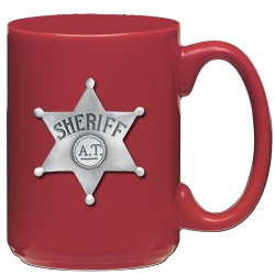 Sheriff Red Coffee Cup