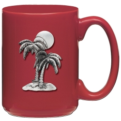 Palm Tree Red Coffee Cup