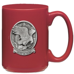 "Bald Eagle ""United We Stand"" Red Coffee Cup"