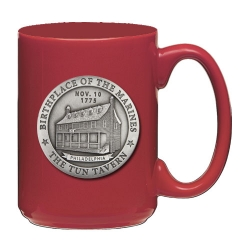 "Marine Corps ""Tun Tavern"" Red Coffee Cup"