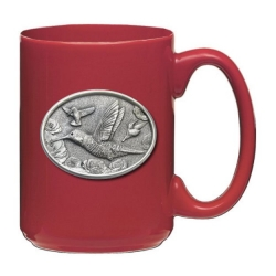 Hummingbird Red Coffee Cup #1