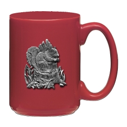 Squirrel Red Coffee Cup