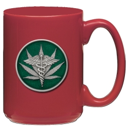 Marijuana #2 Red Coffee Cup - Enameled