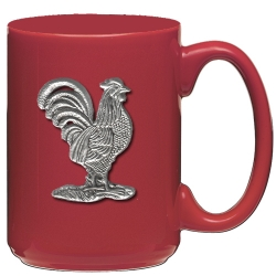 Rooster Red Coffee Cup